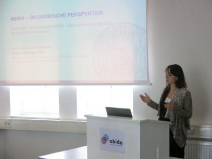 Yvonne Attenberger, LMU München, zum Thema Ökonomie und Big Data
